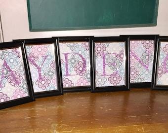 Frameable letters for baby/bridal shower or wedding.