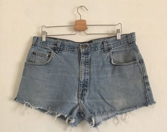 Vintage Denim Cutoff Shorts size 12-14