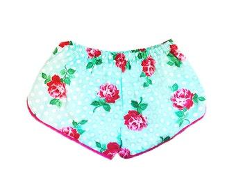 Lucy (Aqua) Boxer Shorts