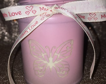 Baby Pink Butterfly Chocolate Scented Candle
