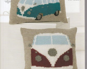Hand Knitted VW Chunky Cushions
