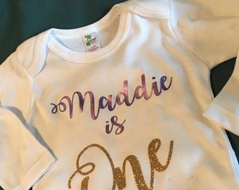 Personalized baby is one Onesie