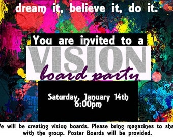 Customized Vision Board Party