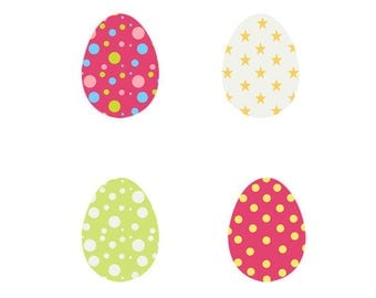 Easter Eggs Clip Art Collection, Painted, Season, Celebration, Paint