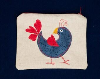 Folk Art Bird Pouch