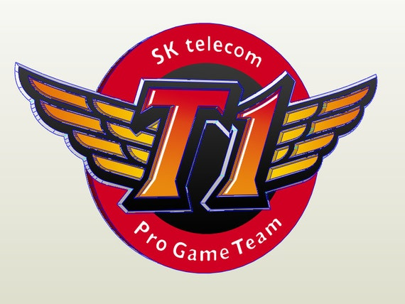 sktt1 logo logo sktt1 league of legends papercraft