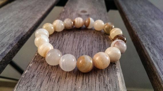 Handmade Stretchy Bracelet made of Jade Beads