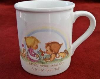Hallmark Mug Mates/Friends Make Your Heart/Friends Make Your Day/Mug For Friend/Gift Mug For Friend/Hallmark Gift Mug/Mug Mates Gift Mug