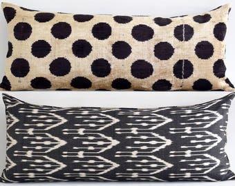 black ikat pillow ikat pillows velvet throw pillow decorative pillows
