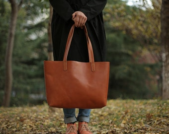 Leather tote bag/ Leather tote/ Tote bag leather/ Tote bag/ Leather tote woman/ Leather tote/ Leather tote/ Tan tote/ Gift for her
