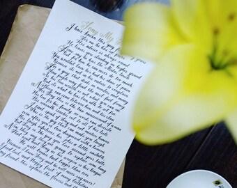 Poem writing - wedding vows, wedding poem, gift