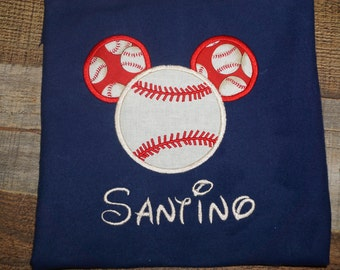 Fast Shipping!!! Mickey Baseball Shirt, Mickey Baseball, Mickey Ears shirt
