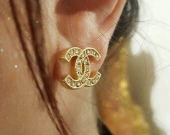 Earrings Gold shine