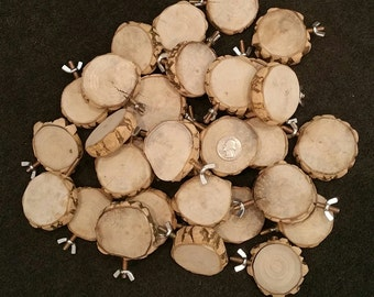 "2.5"" to 2.75"" diameter All Natural Nubby Wood Round Platform Bird Perch"