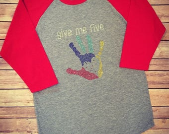 Give Me Five - Autism Awareness Raglan