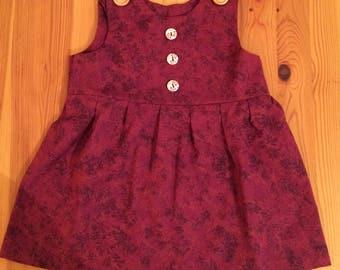 Newborn Baby Girl Handmade Dress.