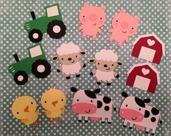 Barnyard die cuts, Farm die cut, Barnyard Party, Farm Barnyard Birthday Party Decorations, Farm Cut Outs, Farm Craft, Farm Scrapbook