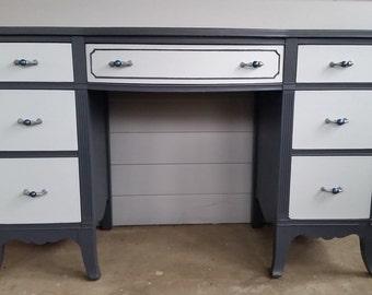 One of a kind Refinished Antique Desk/ Vanity