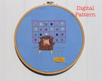 The Chair Quartet Digital Embroidery Pattern No. 1
