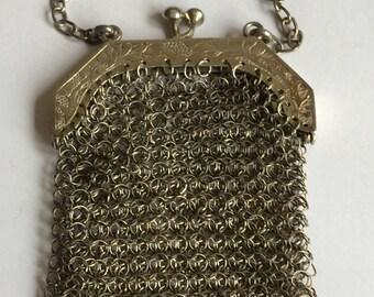 Silver Mesh evening purse
