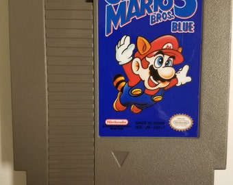 Super Mario Bros 3 Blue (NES) Fan Hack Cartridge w/ Dust Sleeve
