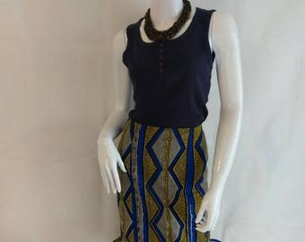 TEMI African print skirt with frills