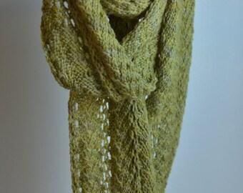 Spring Green Fern Lace Scarf