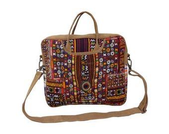 Banjara Laptop bag, colorful shopping bag, Vintage shoulder bag, embroidered laptop bag,tribal bag, embroidered bag, gift item.