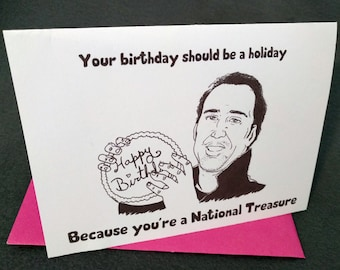 January 7th - Nicolas Cage - Born on Your Birthday Card