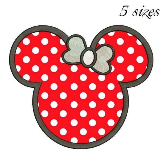 minnie mouse applique designs machine embroidery