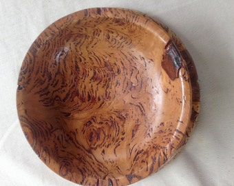 Hand turned Australian Figured Eucalypt bowl