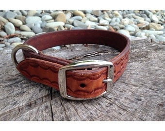 Dog Collar - Handmade Leather & Silver #4