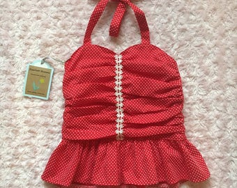 Vintage inspired peplum top size 4t/5t
