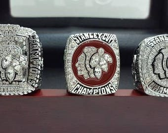 Chicago Blackhawks - Stanley Cup Hockey Championship Rings [3 Ring Set]