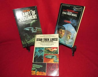 Three Sci-Fi Paperbacks:  Star Trek