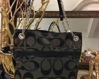 Black Monogram Coach bag