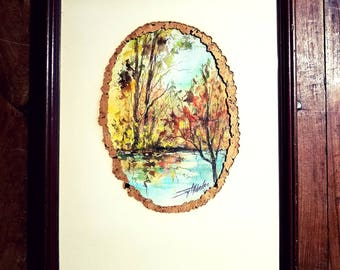 Joy Alldredge signed watercolor painting