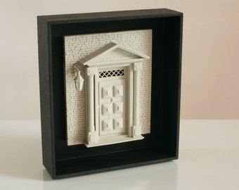 Law Office Decor, Dolls And Miniatures, Architectural Decor, Neoclassical  Miniature, Bookshelf Decor