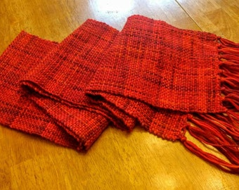 Handwoven 100% wool scarf. Superior warmth for winter