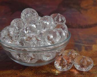 White Clear Saucer Beads