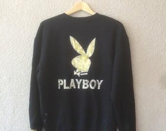 Vintage Playboy Golden Big Logo / Black Gold / Jumper / Sweatshirts