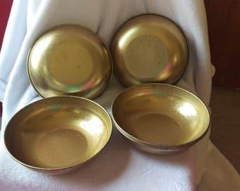 Vintage Gold Aluminum 7.5 Inch Bowls