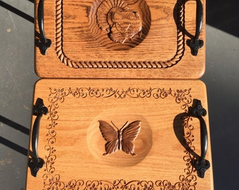 3d carved serving trays