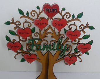 Wooden family tree, personalised