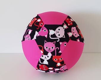 Fabric Balloon Cover - Pink Cats - Black Cats - Red Cats - Balloon Cover - Fabric Bouncing Balloon Cover - Kitty - Cats Balloon Cover