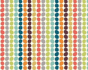 ORGANIC CANVAS, Pebble Stripe Multi, Serengeti Collection, Birch Fabrics, Organic cotton canvas