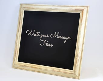 Handmade Blackboard - Framed Chalkboard - Wedding Sign - Menu Board - Home Decor - Medium