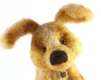 Needle Felted Wool Dog/Puppy