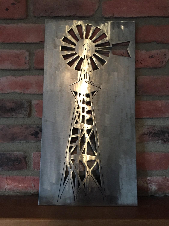 Windmill metal art home decor
