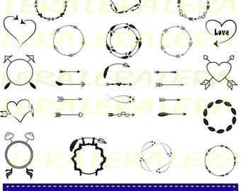 60 % OFF, Arrow/ Arrow Circle Frame SVG File /Valentine Arrow Monogram Frames/ Arrow clip art / Arrow SVG Cut Files/ svg, dxf, ai, eps, png/